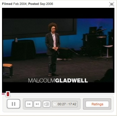 Link to Malcolm Gladwell TED speech